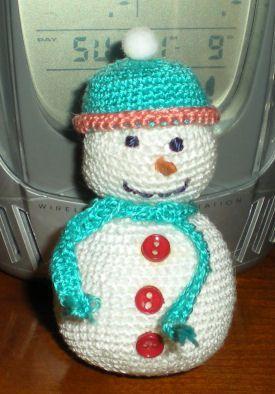 Crochet amigurumi - Bonhomme de neige au crochet ...